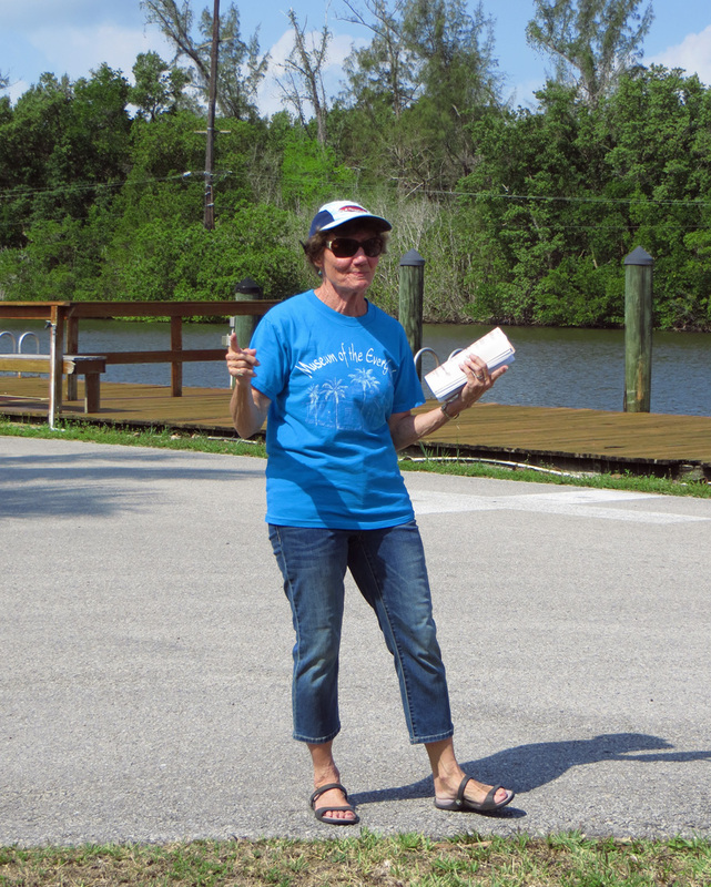 Patty Huff leads walking tours for the Museum of the Everglades