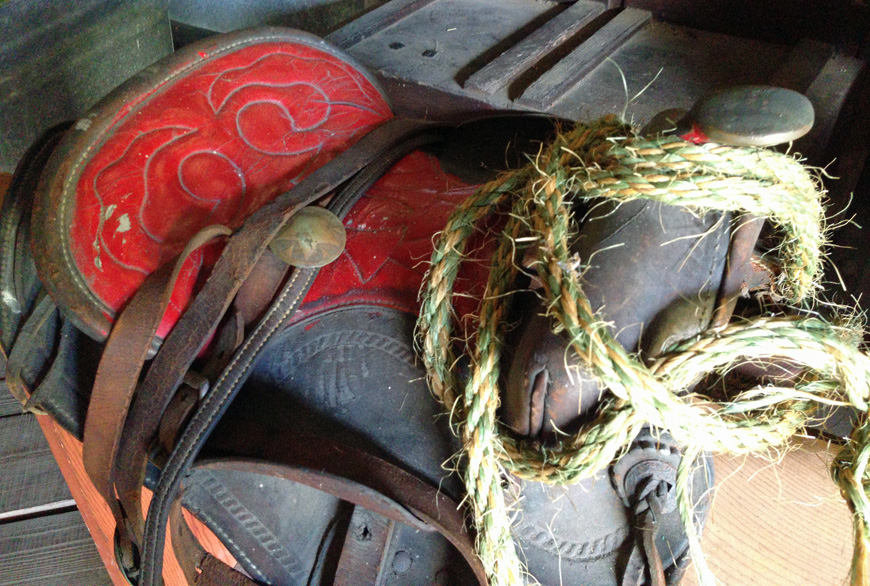 Barberville's Pioneer Settlement saddle
