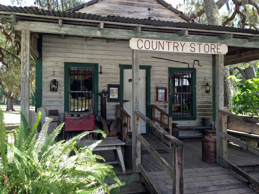 The country store at Pioneer Settlement Barberville Florida